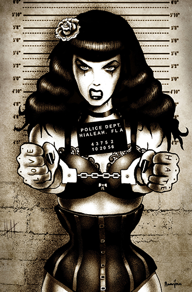 Locked Up Bettie - Canvas Giclee