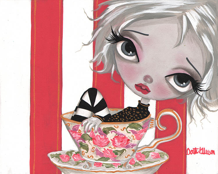 A Little Cup Of Tea - Canvas Giclee