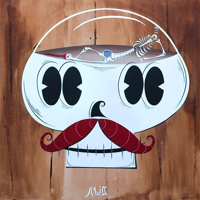 All Boned Up and No Where to Go - Canvas Giclee