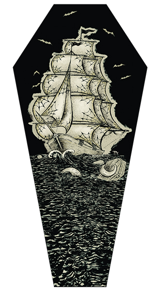 Coffin Seas - Coffin Canvas Giclee