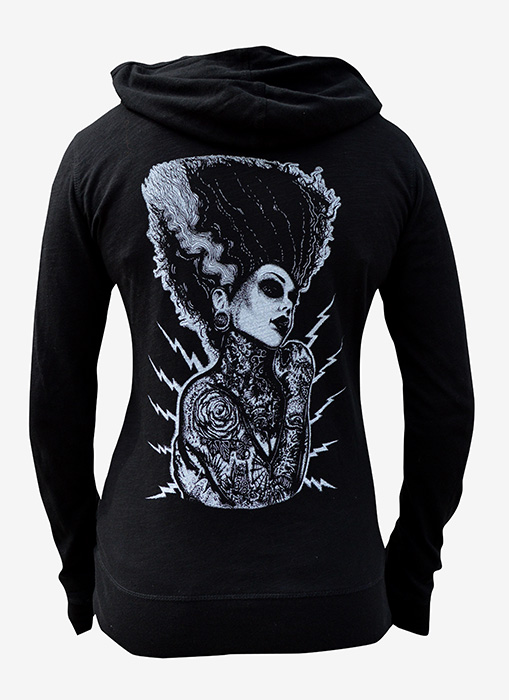 Womens Demon Love - Slub Zip Hoodie