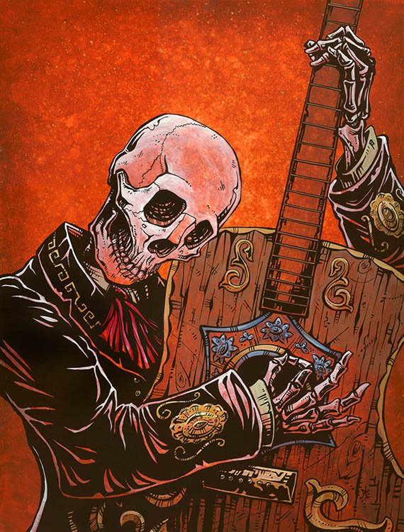 El Guitarrista - Canvas Giclee