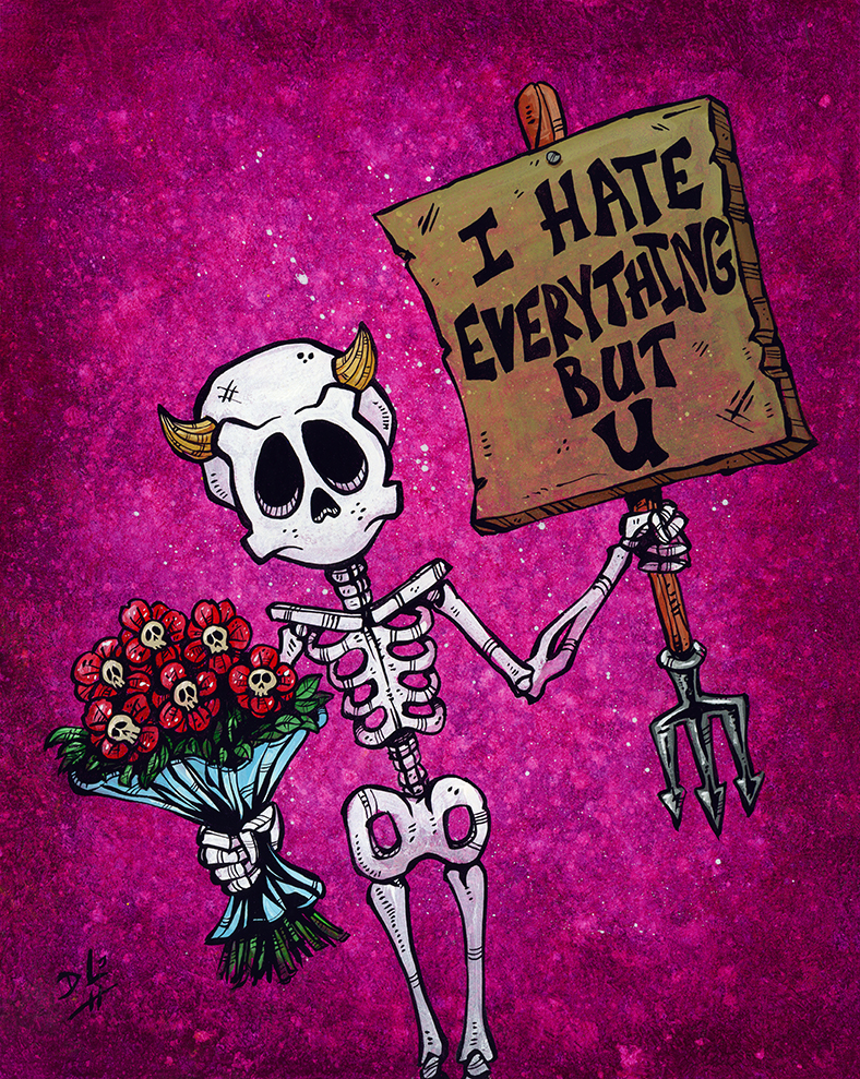 I Hate Everything But U - Canvas Giclee