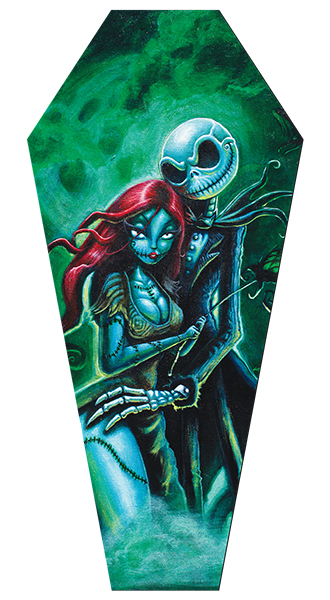 Jack & Sally - Canvas Coffin Giclee
