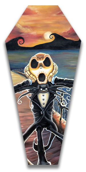Jack Screams - Canvas Coffin Giclee