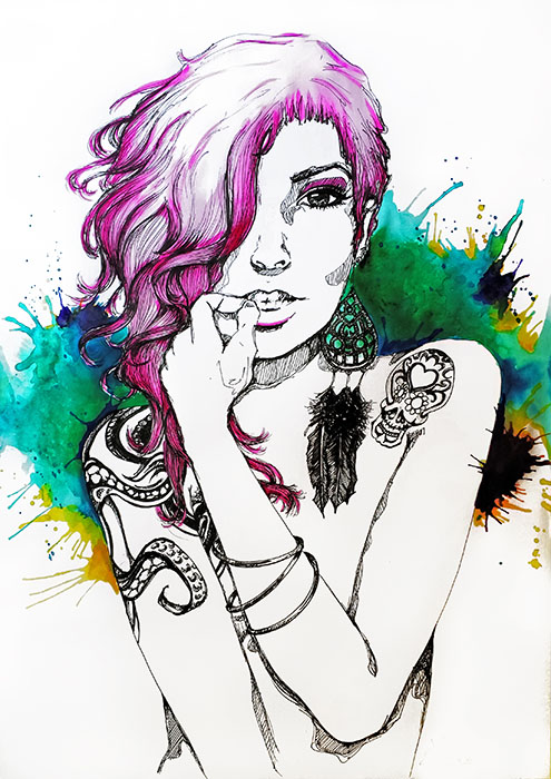 Justine Marie - Canvas Giclee