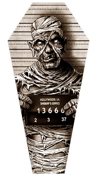 Mummy Mugshot - Canvas Coffin Giclee