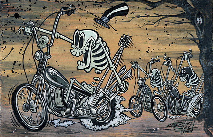 The Bone-Percenters - Canvas Giclee