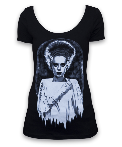 Womens Monsters Bride Scoop Neck Tee