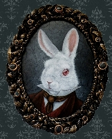 White Rabbit - Canvas Giclee