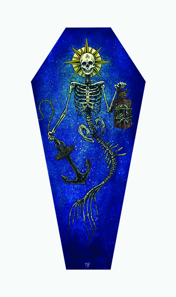 Lighting The Way - Canvas Coffin Giclee