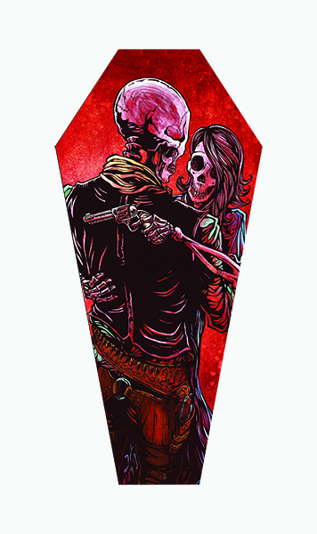 Love Trust and A Revolver - Canvas Coffin Giclee