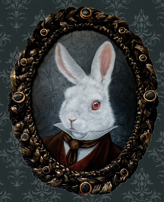 White Rabbit - Canvas Giclee - Click Image to Close