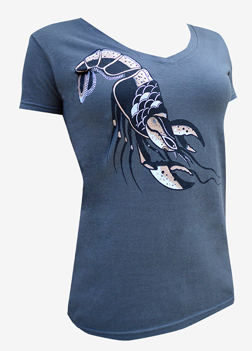 Womens Lobster V-Neck Tee
